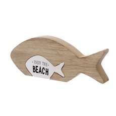 Coastal Fish Pullout Decoration (15X2.5X9.5cm)