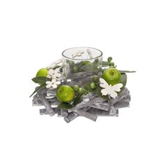 Candle Holders - Green Apple Butterfly Candle Arrangement x1 Votive (16x9cmH)
