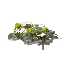 Candle Holders - Green Apple Butterfly Candle Arrangement x2 Votive(20x14x8cm