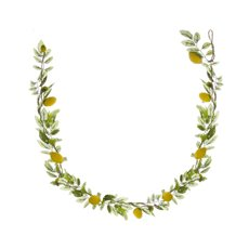 Lemon Garland with Green Leaves Yellow(100cm)