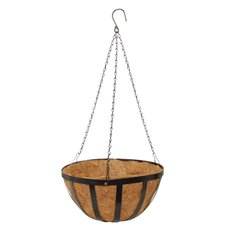 Home Seasonal Decorations - Metal Hanging Basket with Insert (35.5cm)