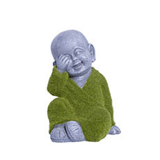 Home Seasonal Decorations - Little Happy Monk Figurine Sitting (24cmH)