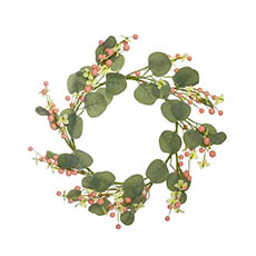 Home Seasonal Decorations - Pearl Garden Look Wreath (45cmD)