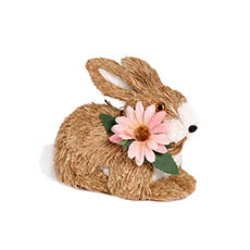 Easter Decoration & Decor - Rabbit Sammi with Flower Necklace (18x10x15cm)