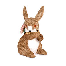 Easter Decoration & Decor - Rabbit Abi with Flower Necklace (15x19x28cm)