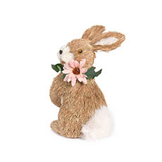 Home Seasonal Decorations - Rabbit Sophie with Flower Necklace (19x12x26cm)