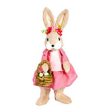 Easter Decoration & Decor - Rabbit Coco Standing with Basket (20x15x40cm)