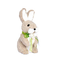 Easter Decoration & Decor - Rabbit Lily with Flowers (10x10x21cm)