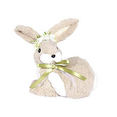 Easter Decoration & Decor - Rabbit Lisa with Flower Crown (17x15x19cm)