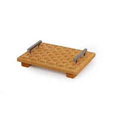 Wood Decor - Wooden Tray with Metal Handles (25x17cm)