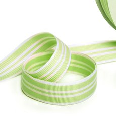 Grosgrain Ribbons - Ribbon Grosgrain Crimp Mint White (23mmx50m)