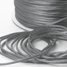Cords - Satin Cord Light Grey (2mmx100m)