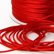 Cords - Satin Cord Red (2mmx100m)