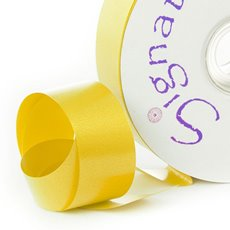 Florist & Gift Poly Tear Ribbons - Premium Tear Ribbon Bright Yellow (30mmx91m)