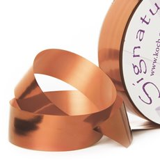 Florist & Gift Poly Tear Ribbons - Premium Tear Ribbon Metallic Copper (30mmx91m)