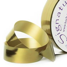 Florist & Gift Poly Tear Ribbons - Premium Tear Ribbon Metallic Gold (30mmx91m)