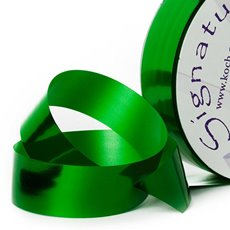 Florist & Gift Poly Tear Ribbons - Premium Tear Ribbon Metallic Green (30mmx91m)