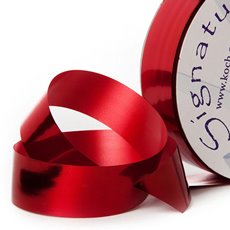 Florist & Gift Poly Tear Ribbons - Premium Tear Ribbon Metallic Red (30mmx91m)