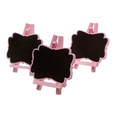 Mini Blackboard 3 Pack Pink (7x8cmH)