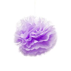 Hanging Tissue Pom Pom 2 Pack Purple (30cmD)