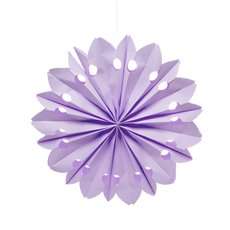 Hanging Tissue Paper Fan Purple (50cm)
