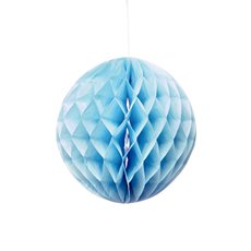 Party Decorations - Hanging Honeycomb Blue (20cmD) Pack 2