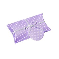 Dotted Pillow Box 10 Pack Purple (17x8x2.5cm)