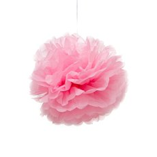 Party Decorations - Hanging Tissue Pom Pom Pink (30cmD) Pack 2