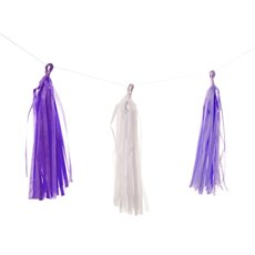 Hanging Tissue Paper Garland Purple (3m)