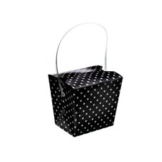 Dotted Party Box 4 Pack Black (9x7x8cmH)