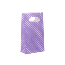 Dotted Party Bag 4 Pack Lavender (10x18cmH)