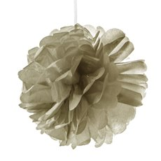 Party Decorations - Hanging Tissue Pom Pom Metallic Gold (50cmD)