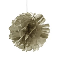 Hanging Tissue Pom Pom Metallic Gold (40cmD)