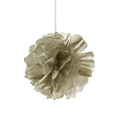 Party Decorations - Hanging Tissue Pom Pom Metallic Gold (30cmD)