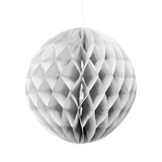 Party Decorations - Hanging Honeycomb White (29cmD)