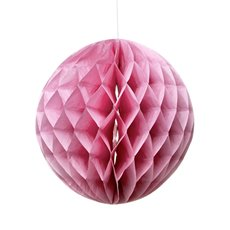 Party Decorations - Hanging Honeycomb Pink (29cmD)