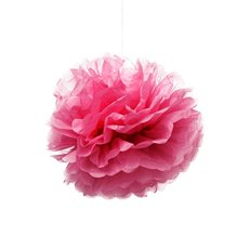Hanging Tissue Pom Pom 2 Pack Hot Pink (30cmD)