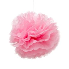 Party Decorations - Hanging Tissue Pom Pom Pink (40cmD) Pack 2