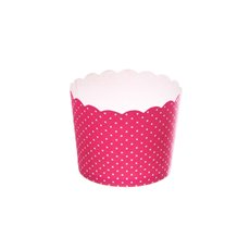 Dotted Paper Baking Cups 25 Pack Hot Pink (6x4.5cmH)