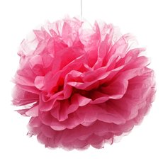 Hanging Tissue Pom Pom Hot Pink (50cmD)
