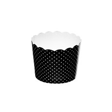 Dotted Paper Baking Cups 25 Pack Black (6x4.5cmH)