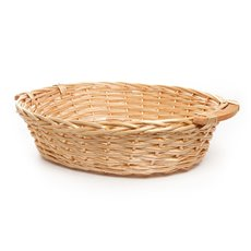 Hamper Tray & Gift Basket - Willow Bread Basket Tray Oval Honey (57x46x14cmH)