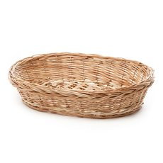 Willow Bread Tray Oval Natural (36x27x8cmH)