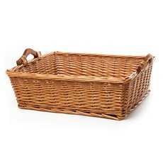 Willow Bread Tray Rectangle Natural (50x39x15cmH)