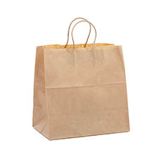 Kraft Paper Carry Bags - Uber Take Away Kraft Paper Bag Small 305Lx305Wx175Gmm