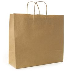 Kraft Paper Carry Bags - Brown Kraft Paper Bag Shopper Giant (450Wx150Gx430mmH)