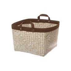 Basket Storage With Handles 26x26x20cmH Natural