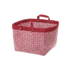 Basket Storage With Handles 26x26x20cmH Red