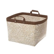 Basket Storage With Handles 29x29x23cmH Natural