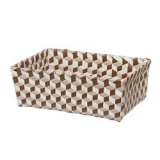 Diamond Storage Tray Rectangle Brown (38x26x13cmH)